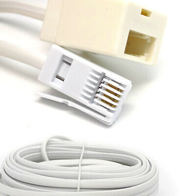 10M UK Land line Male To Female Broadband Socket Modem BT Extension Cable Lead