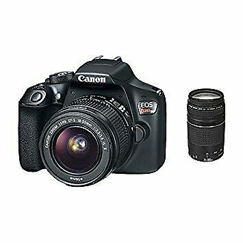 Canon EOS Rebel T6 Digital SLR Camera with 18-55mm & 75-300mm Lenses