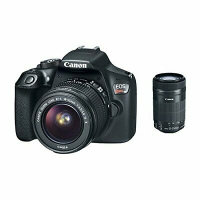 Canon EOS Rebel T6 Digital SLR Camera with 18-55mm & 55-250mm Lenses