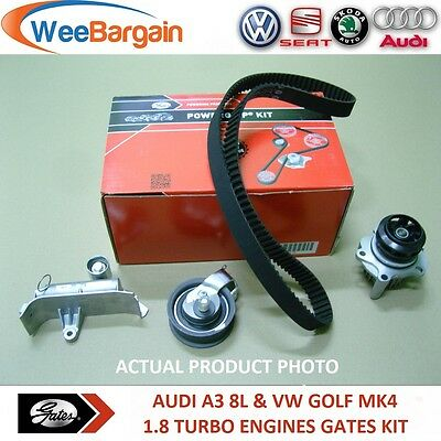 AUDI A3 VW GOLF IV 1.8 T FULL GATES KP25491XS Timing/Cam Belt Kit & Water Pump