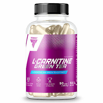 L-Carnitine & Green Tea 90/180 Capsules Turn Fat into Energy Fat Burner Slimming