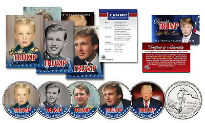 DONALD TRUMP 2016 Presidential Life & Times 10 Piece Ultimate Coin & Card Set