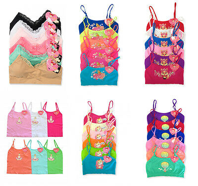 Pack Lot Fox Ballet Cat Princess KID GIRL Seamless Sports Bra Cami Crop Top S-XL