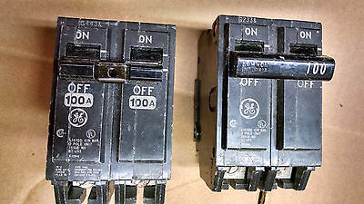 GE General Electric THQL21100 100amp 2pole 120/240v circuit breaker 1yr warranty