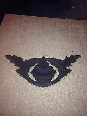 "Early 16 1/4"" Carved Wood Architectural Pediment W/ Nuts"