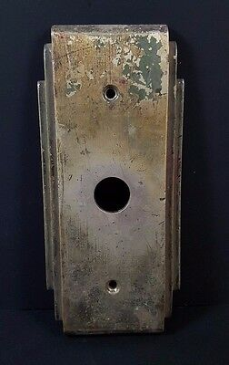 ~~~ Antique Brass Nickel Elevator Light Indicator Plate Cover Panel Vtg Hardware