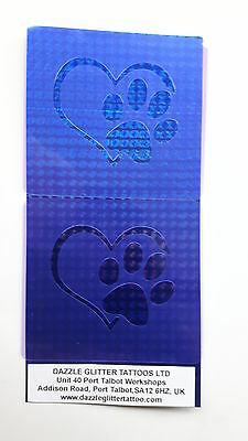 2 x  & dog paw in heart print wall decor stencils for home decoration