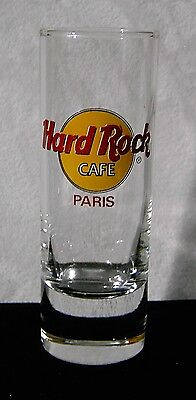Hard Rock Cafe Tall Shot Glass Paris France red letters