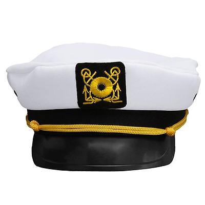 1xAdjustable Marine Yacht Boat Ship Sailor Captain Hat Cap Cosplay Costumes J