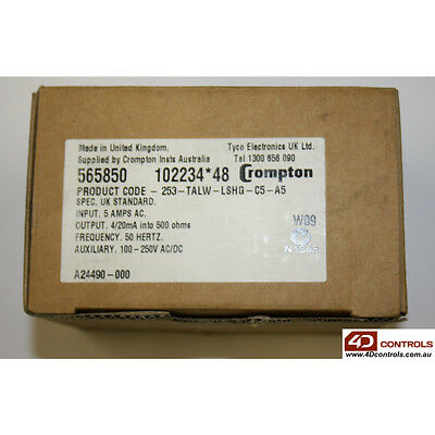 Crompton 253-TALW-LSHG-C5-A5 CURRENT TRANSDUCER - New Surplus Open