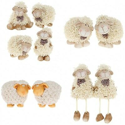 Cute Shaggy Sheep Figurine Ornament Set of 2 Ewe & Me Collectable Gifts for Her