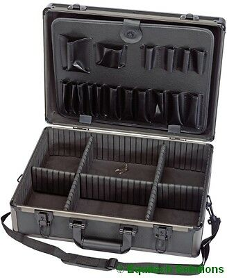 Draper 85744 Black Aluminium Tool Storage Case Engineer Technician Mechanic New