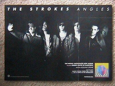 "The Strokes ""angles"" Advanced Promo 2 Sided Poster 2011 11"" X 17"""