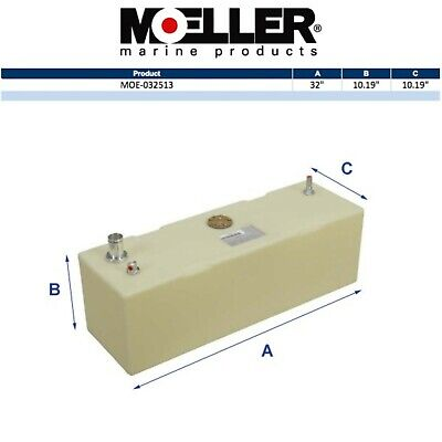 Moeller 32513 13 Gallon Below Deck Permanent Marine Fuel Tank
