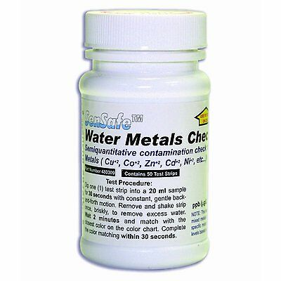Heavy Metals Water Test Kit - Test for Heavy Metals (50 Strips) 480309