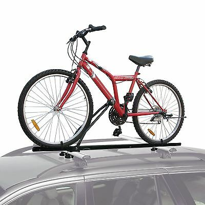 Universal Car Roof Bicycle Bike Carrier Upright Mounted Locking Cycle Rack New