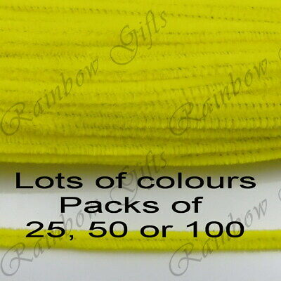 "12"" PIPE CLEANERS 30cm CHENILLE CRAFT STEMS BUY ONE GET ONE 50% OFF UK SELLER"