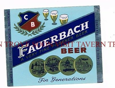Unused 1950s Mineral Spring Beer RED Point Label Tavern Trove Wisconsin