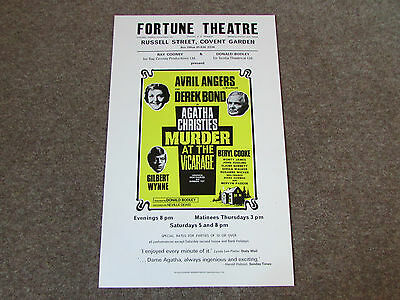 Avril ANGERS in Agatha CHRISTIE's Murder at the Vicarage FORTUNE Theatre Poster