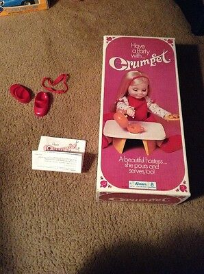 Kenner 1971 Crumpet Doll Vintage Empty Box Instructions Shoes Headband