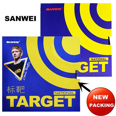 Sanwei TARGET National Pips-in Table Tennis Rubber with Blue Sponge Genuine