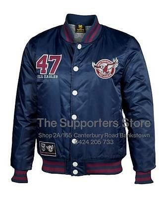 Manly Sea Eagles NRL 2016 Classic Baseball Jacket Size S-5XL! BNWT's!