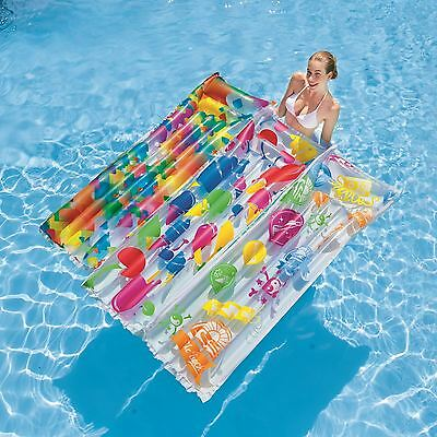 "Bestway 72"" X 27"" Inflatable Swimming Beach Pool Lounger Air Mat Float"