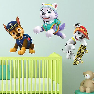 Paw Patrol Kids Boys Girls Bedroom Wall Decal Art Sticker Gift New Everest Chase
