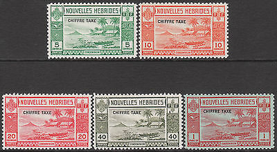 New Hebrides 1938 Mint Postage Due Gv1 Stamp Set French Chiffre Taxe