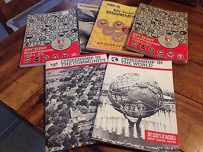 Lot of 6 Boy Scout Books PB Merit Badge Requirements