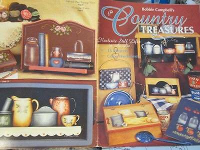 Bobbie Campbell's Country Treasures Painting Book-Still Lifes/Kitchen/Flowers/Fr