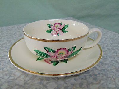 Paden City Pottery MODERN ORCHID Cup and Saucer Set