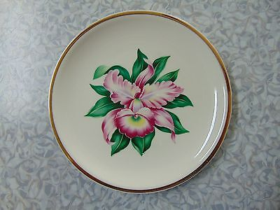 Paden City Pottery MODERN ORCHID Bread Plate 6 1/2 Inches