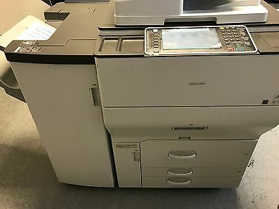 Ricoh Mp C6502 Copier  Less Than 700 Copies Comes With Finisher Only Pick Up