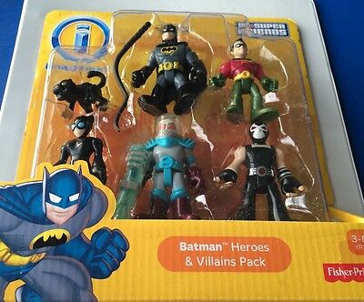 NEW Fisher Price Imaginext DC Super Friends Batman Heroes And Villains Pack