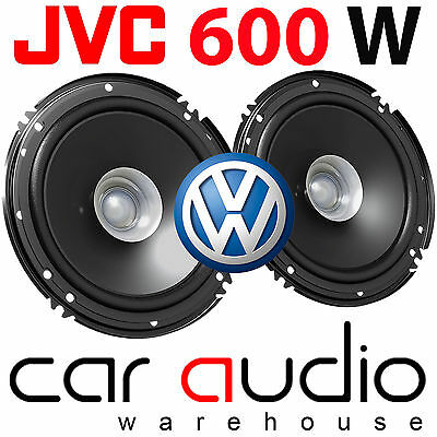 VW Vokswagen Passat B5 16cm 6.5 JVC 600 Watts Front Door Car Speakers & Brackets