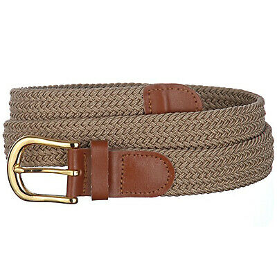 Mens Braided Stretch Belts - Casual Golf Belt