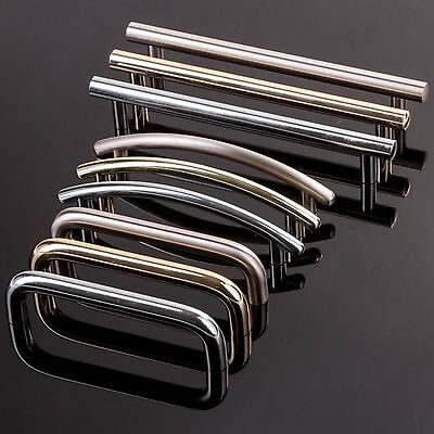 Modern Polished Chrome/Brass/Brushed Nickel Pull Handles Cupboard Cabinet Drawer