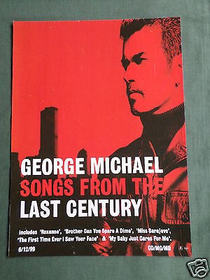 George Michael - Magazine Clipping / Cutting- 1 Page Advert - #2
