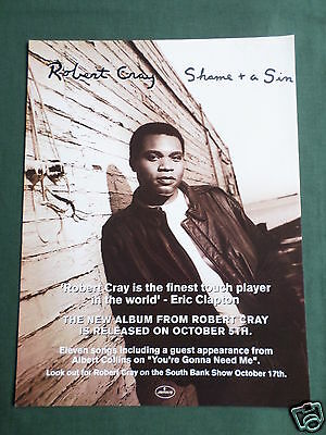 Robert Cray - Magazine Clipping / Cutting- 1 Page Advert