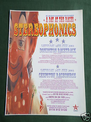 Stereophonics - Magazine Clipping / Cutting- 1 Page Advert
