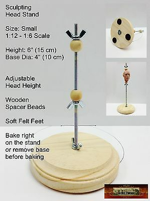 M01070 MOREZMORE Sculpting Doll Head Armature Stand SMALL 1:12 - 1:6