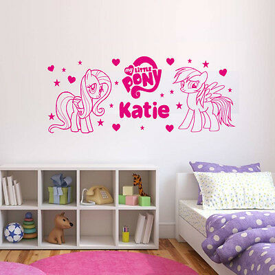 Personalised My Little Pony Wall Art Sticker, Brand New!!