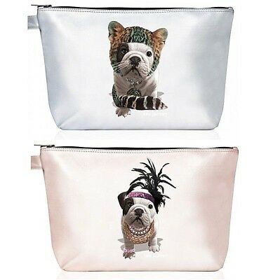Teo Jasmin British English Bulldog Large Toiletry Bag Pouch Case Dog Lovers Gift