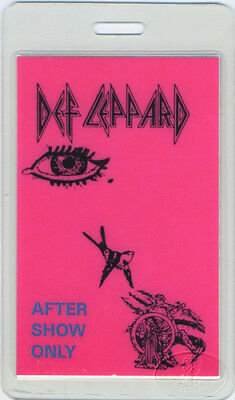 Def Leppard 1985 Laminated Backstage Pass Aso Groupie