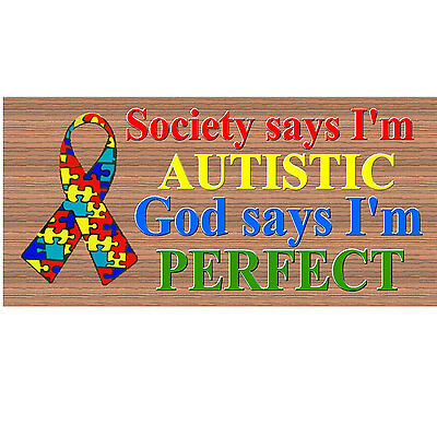 Autism Awetism Shabby Chic Rustic Autistic Awareness Wooden Country Kids Sign
