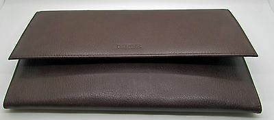 Danier Brown  Leather Document Holder Passport Tickets Boarding Zipper Large