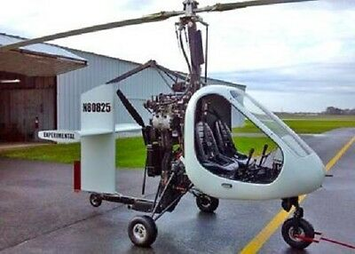 Sparrow Vortech USA Autogyro Helicopter Wood Model Replica Large Free Shipping
