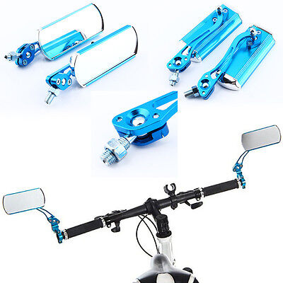 1 Pair Bicycle Bike Handlebar Rear Rearview Back View Mirror & Connector Mount