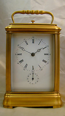 Fully Restored Gorge PETITE SONNERIE Carriage Clock